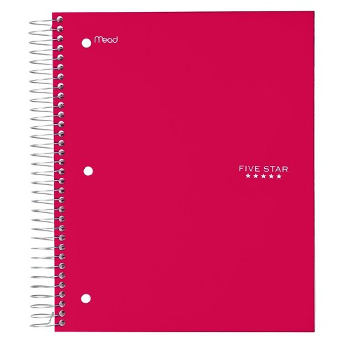 "FiveStar Notebook, Wide Ruled, 5 Subject, 200pgs, 10.5"" x 8"" - image 1 of 4"