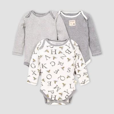 Burt's Bees Baby® Baby 3pk Organic Cotton Bodysuit - Off-White 0-3M