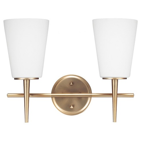 Sea Gull Lighting Driscoll Two Light Bath Vanity - Satin Bronze - image 1 of 2