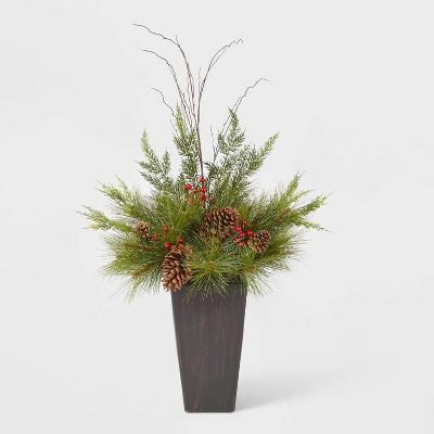 3.5ft Unlit Spruce Top Porch Pine in Bronze Pot Artificial Christmas Tree - Wondershop™