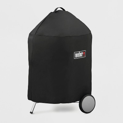 "Weber 22""Charcoal Premium Grill Cover- Black"