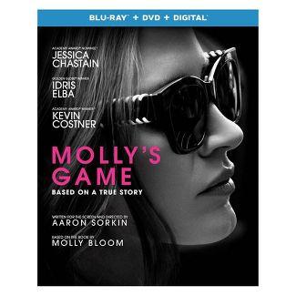 Mollys Game (Blu-ray + DVD + Digital)
