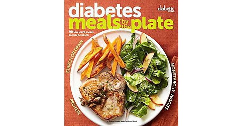 Diabetic meals by the plate : 90 Low-carb Meals to Mix & Match (Paperback) - image 1 of 1