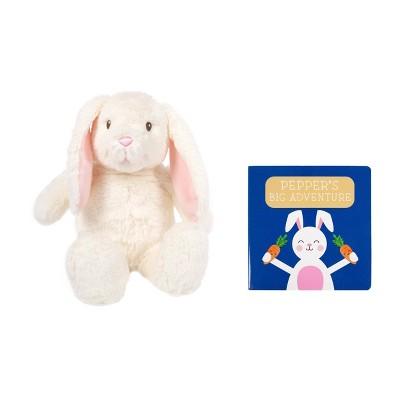 Pearhead Bunny Plush and Book Set 2pk