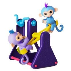Fingerlings Monkeys with TeeterTotter Interactive Playset