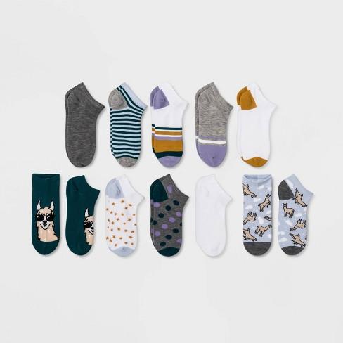 Women's Llama 10pk Low Cut Socks - Xhilaration™ Light Blue One Size - image 1 of 1