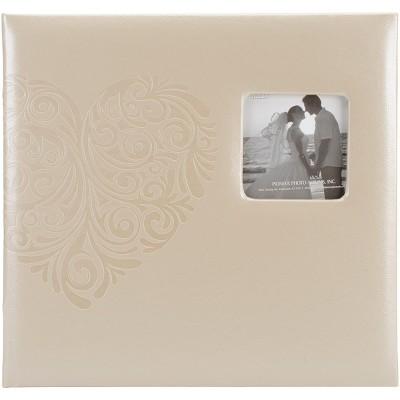 "Pioneer Embossed Wedding Post Bound Album 12""X12""-Heart"