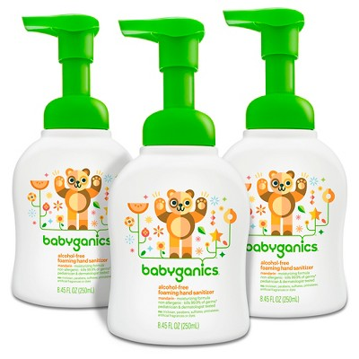 Babyganics Alcohol-Free Foaming Hand Sanitizer - 8.45 fl oz/3pk