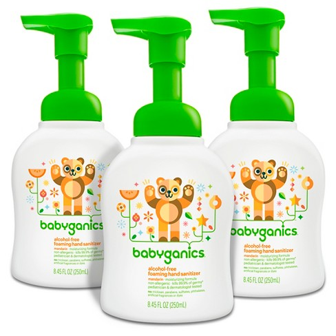 Babyganics Alcohol-Free Foaming Hand Sanitizer - 8.45 fl oz/3pk - image 1 of 3