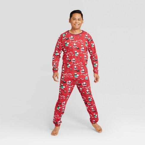 Nite Nite Munki Munki Men s Holiday Santa s List Pajama Set - Red XL ... 7eaf45105