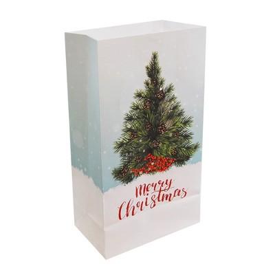 "24ct Paper Luminaria Bags ""Christmas Tree"" - LumaBase"