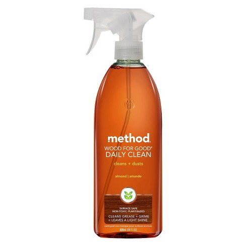Method Cleaning Products Daily Wood Cleaner Almond Spray Bottle 28 fl oz - image 1 of 2