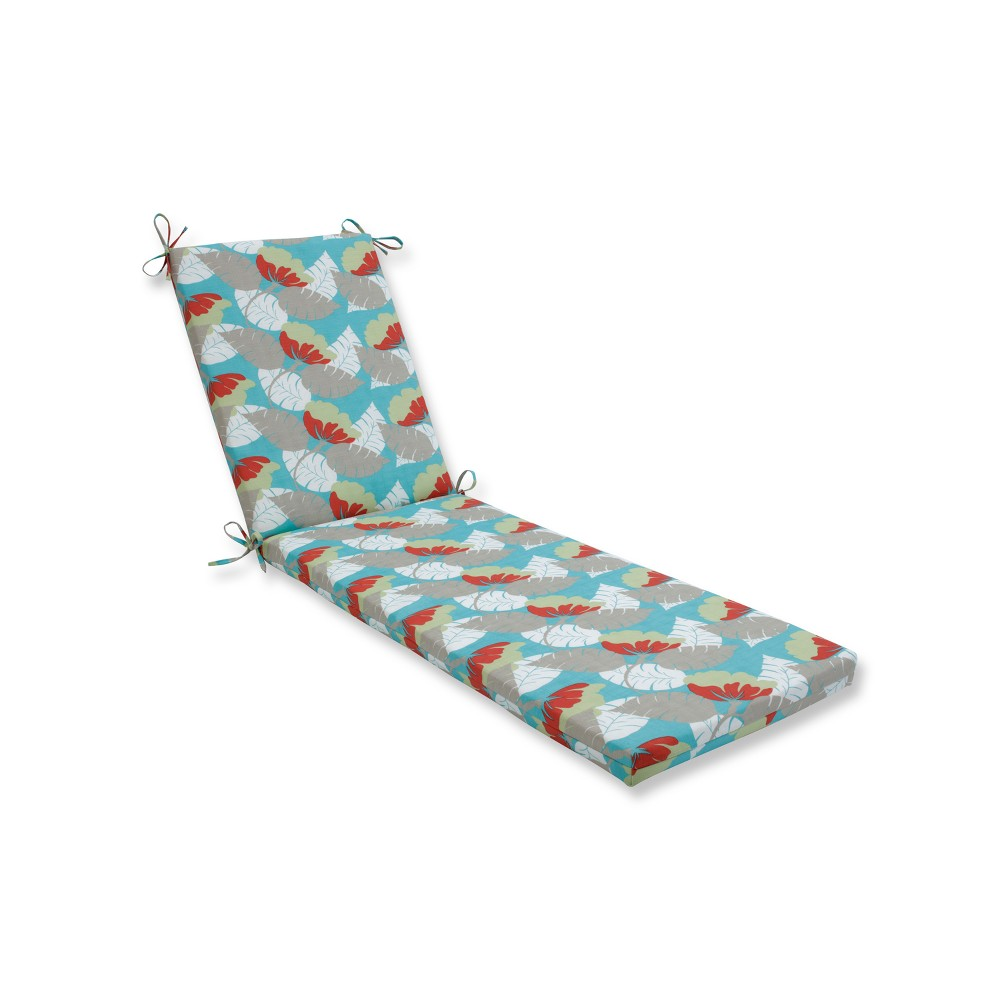 Image of Avia Indoor/Outdoor Chaise Lounge Cushion - Blue - Pillow Perfect