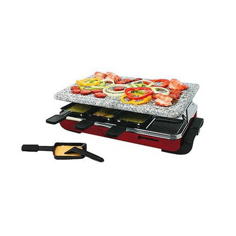 Classic Raclette 8Person Party Grill with Granite Top  Red - image 1 of 1