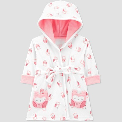 Baby Girls' Owl Bath Robe - Just One You® made by carter's Pink