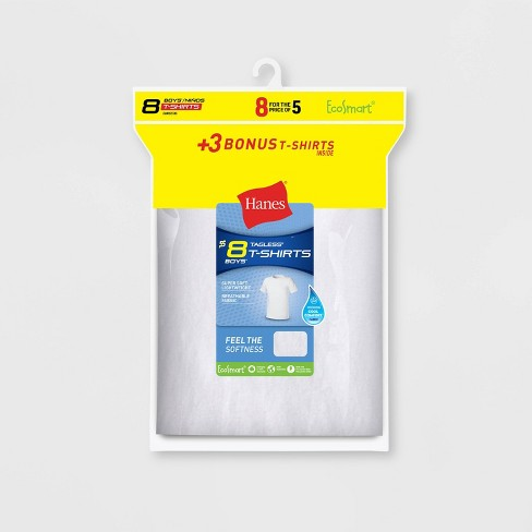 Hanes Boys' Crew T-Shirt 5+3 Bonus Pack - Colors Vary - image 1 of 1