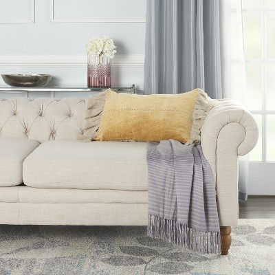 Mina Victory Life Styles Stitch Velvet Frills Throw Pillow : Target