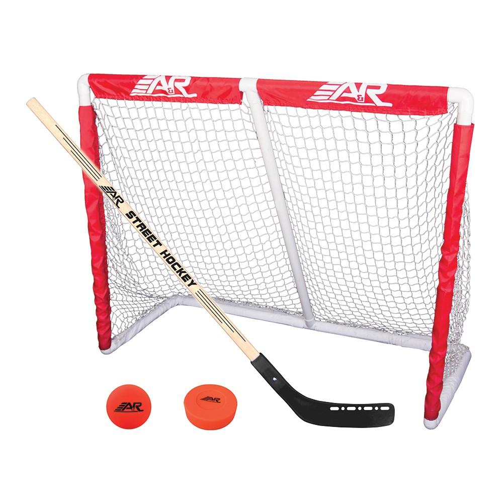 A&r Deluxe Street Hockey Goal - White
