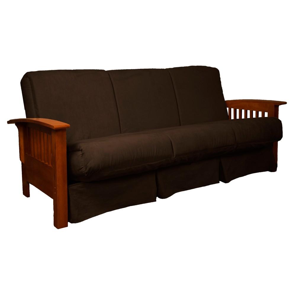 Craftsman Perfect Futon Sofa Sleeper - Walnut Wood Finish - Epic Furnishings, Espresso Brown