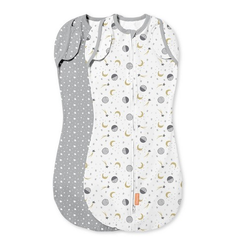 SwaddleMe Arms Free Convertible Pod Swaddle Wrap - Lucky Star 4-6M 2pk - image 1 of 4