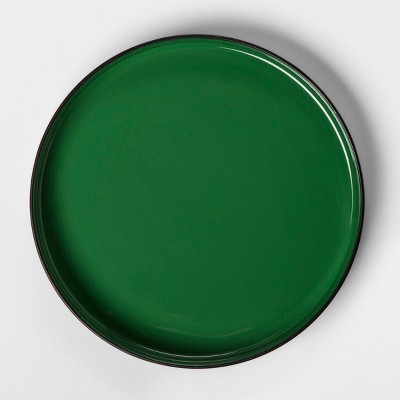 Round Enameled Tray - Green/Black - Project 62™