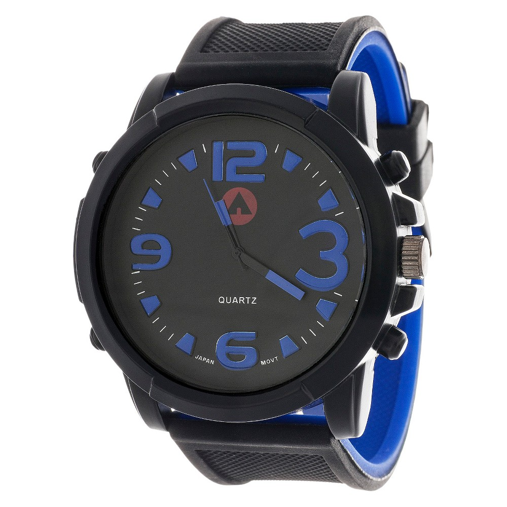 Image of Men's Airwalk Rubber Strap Analog Watch - Blue, Size: Small