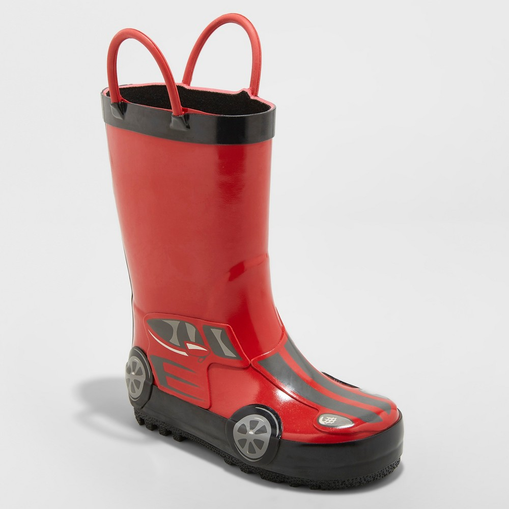 Best Shopping Toddler Boys Lincoln Rain Boots Cat Jack Red 6