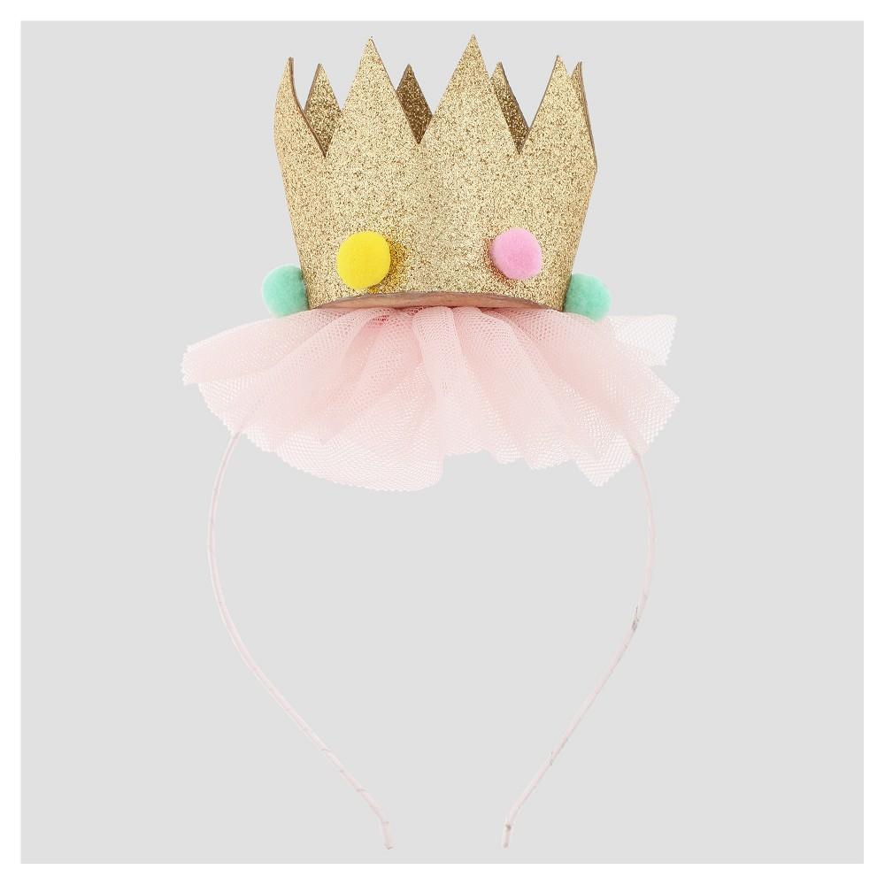Girls' Glitter Crown Headband - Cat & Jack Pink