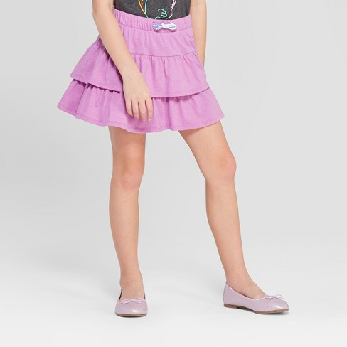 Girls' Knit Skort - Cat & Jack™ Purple - image 1 of 3