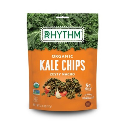 Rhythm Organic Vegan Superfoods Zesty Nacho Kale Chips - 2oz