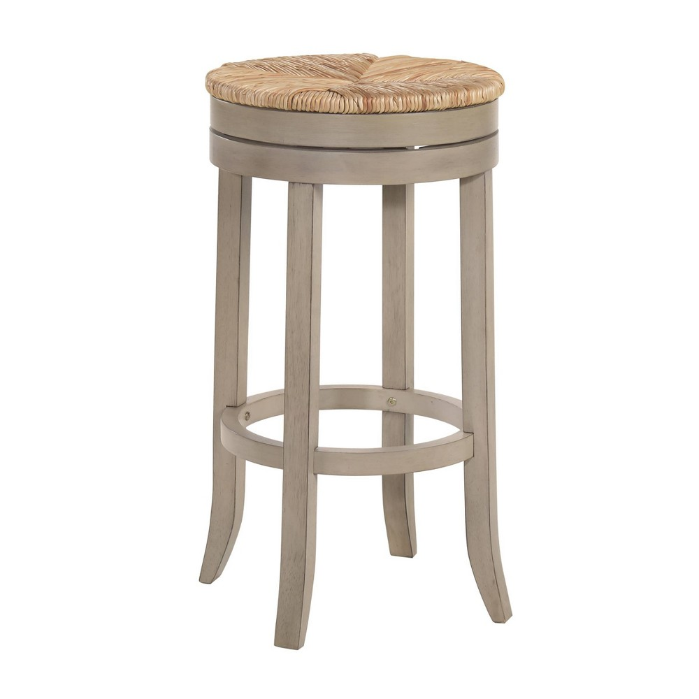 30 34 Leif Swivel Rush Seat Barstool Weathered Gray Carolina Chair 38 Table
