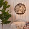 Rattan Globe Ceiling Light Black - Opalhouse™ - image 3 of 4