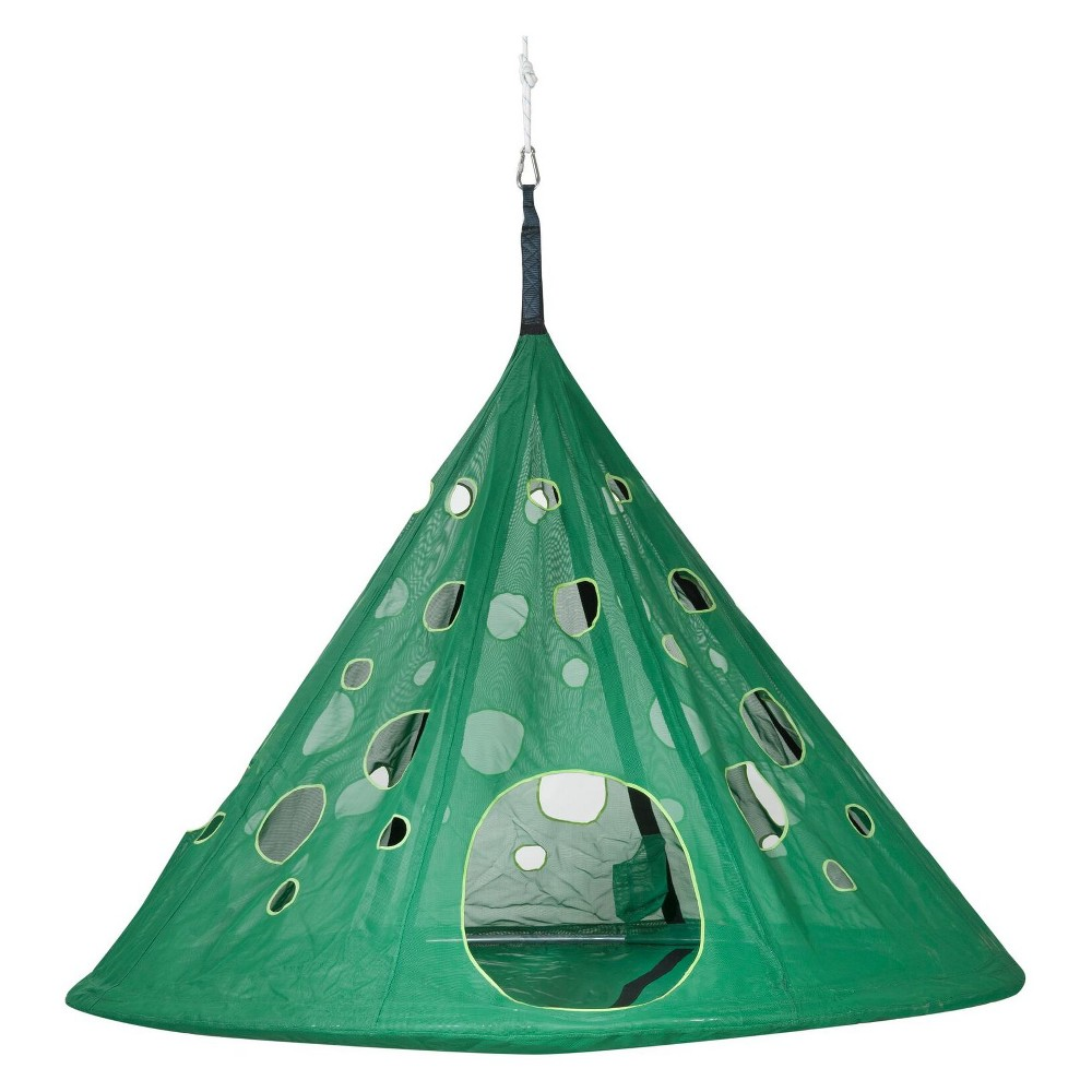 Image of Moondrop Hanging Chair - Green - FlowerHouse