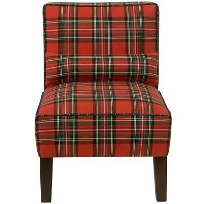 Armless Chair - Ancient Stewart Red - Skyline Furniture