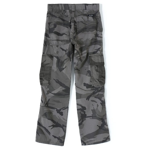 Wrangler Originals Boys' Flannel Lined Ripstop Cargo Pants Anthracite 14 - image 1 of 6