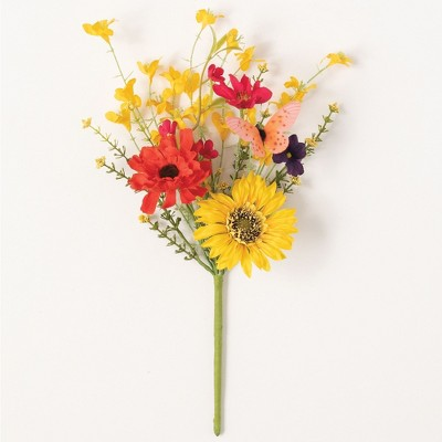"""Sullivans Artificial Wildflower Mix Pick 16""""H Yellow & Red Flowers"""
