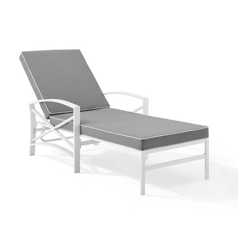 Kaplan Chaise Lounge Chair - White - Crosley - image 1 of 4