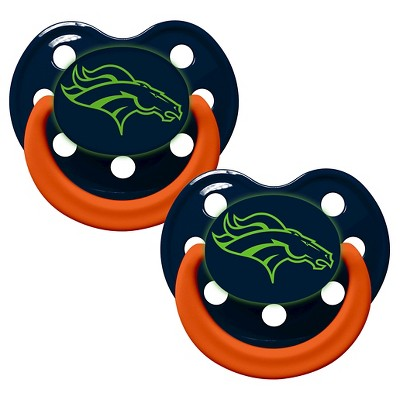 Denver Broncos Baby Fanatic Glow In The Dark Pacifiers - 2 Pack