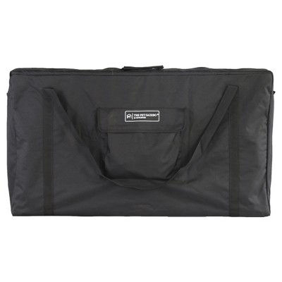 Advantek 23355 5 Foot Indoor Outdoor Pet Gazebo Heavy Duty Carry Tote Bag with Shoulder Strap, Black