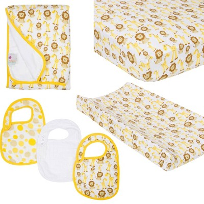 MiracleWare Fitted Sheets Nursery Set - Giraffe & Lion 4pc