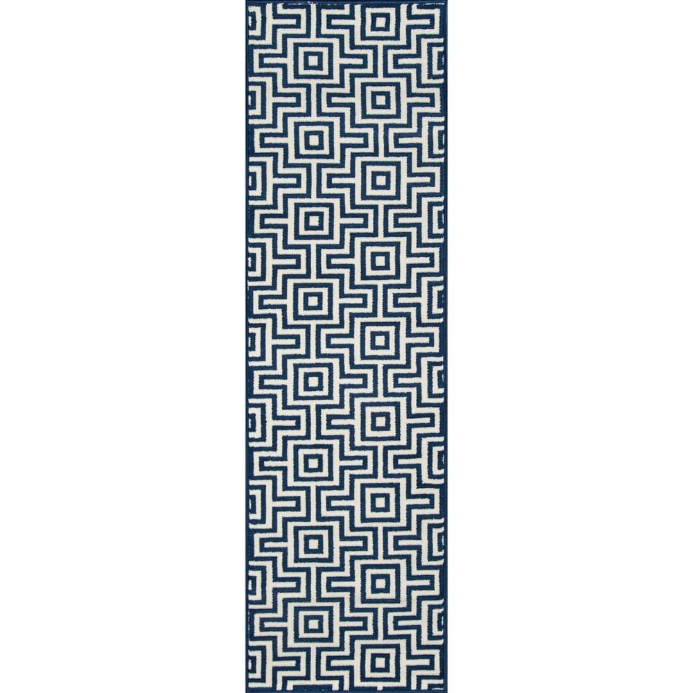 2'3X8' Solid Runner Navy (Blue) - Momeni
