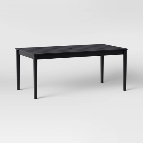 Blackened Wood 6 Person Rectangle Patio Dining Table - Smith & Hawken™ - image 1 of 4