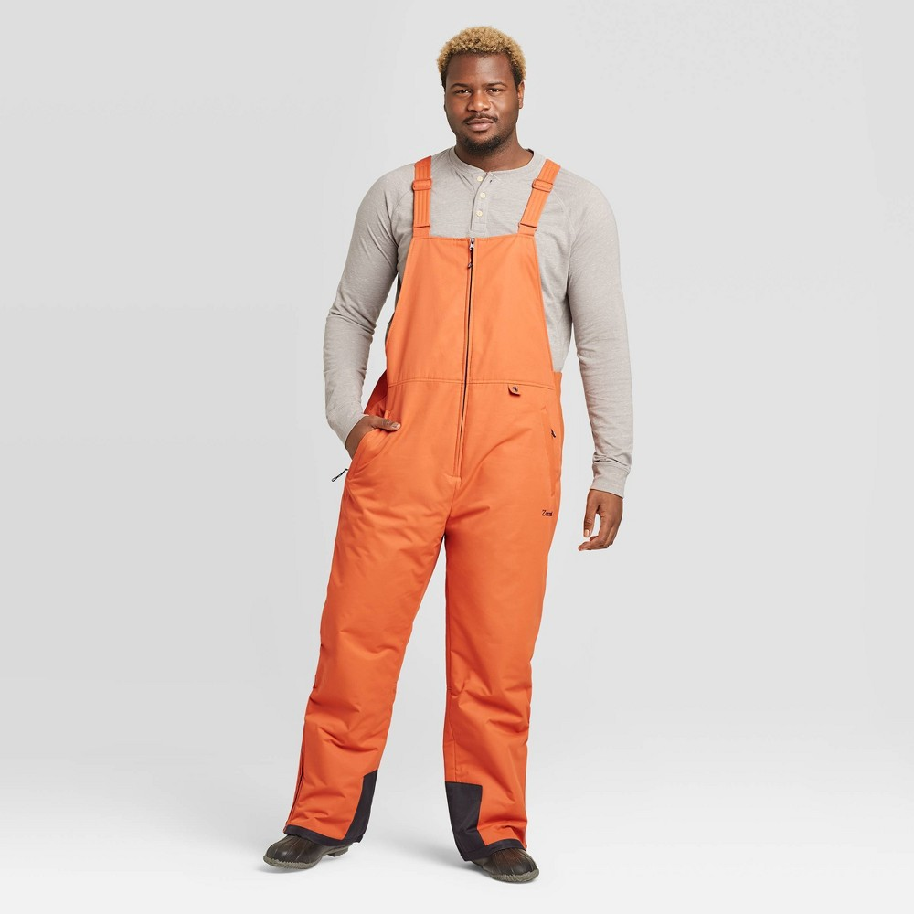 Image of Men's Big & Tall Insulated Snow Bib Overall - Zermatt Burnt Ginger 4XL, Burnt Red