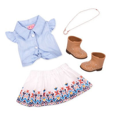 """Our Generation Country Outfit for 18"""" Dolls - My Lucky Horseshoe"""