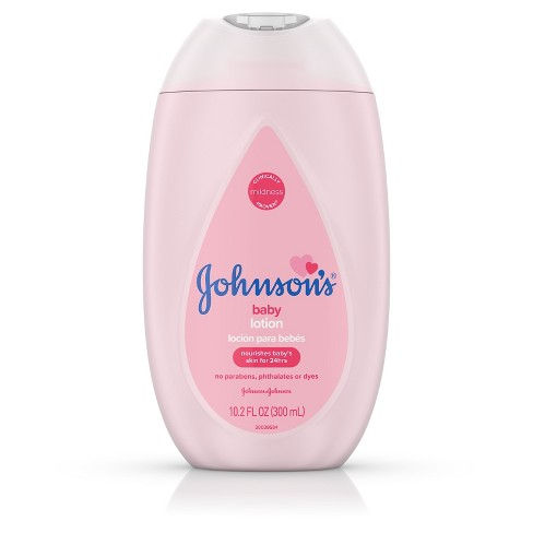 Johnson's Moisturizing Pink Baby Lotion with Coconut Oil - 10.2oz - image 1 of 8