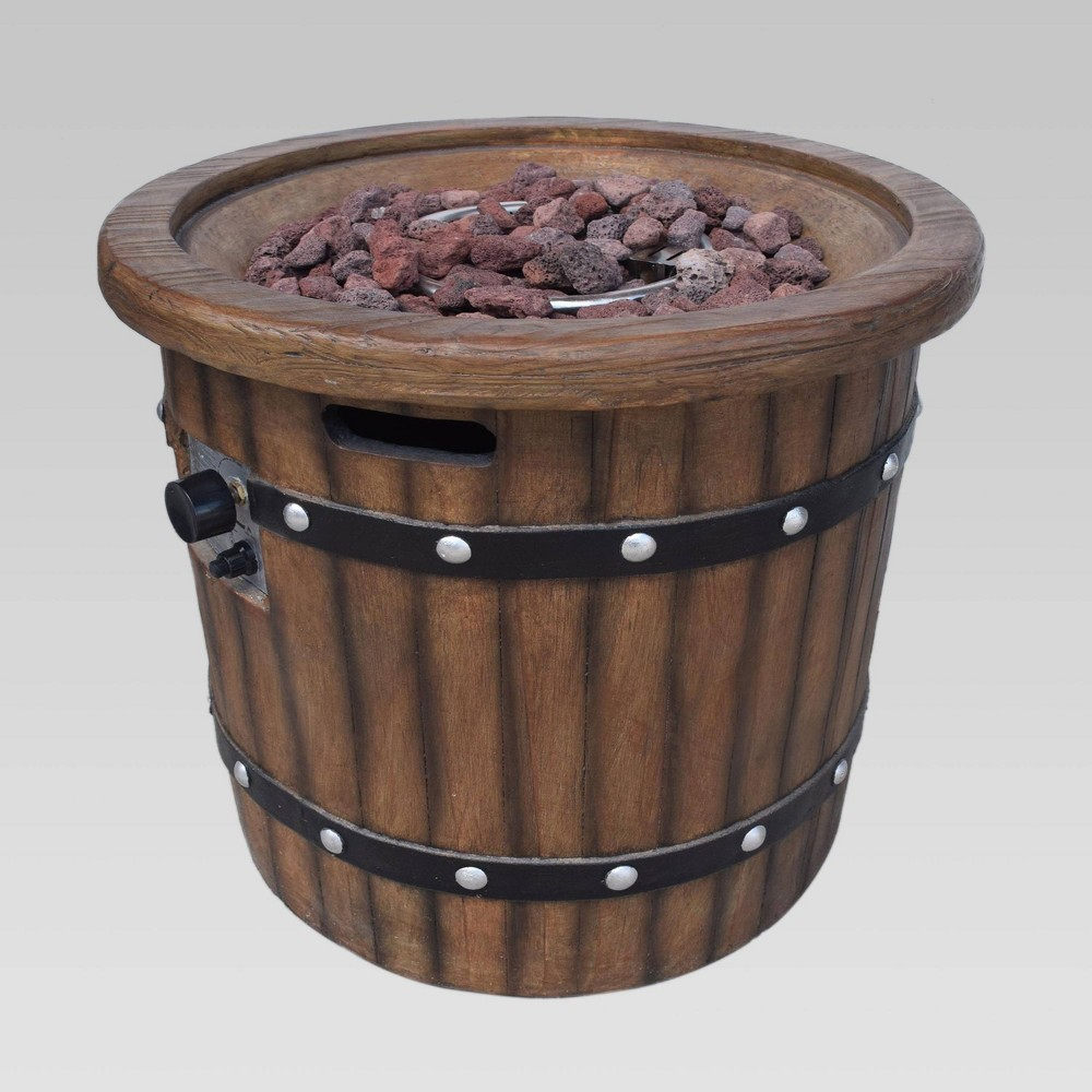 "Image of ""25"""" Garland Concrete Fire Pit Dark Brown - Christopher Knight Home"""