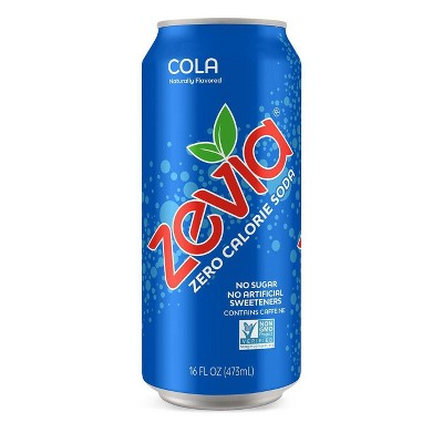 Zevia Cola Zero Calorie Soda - 16 fl oz Can