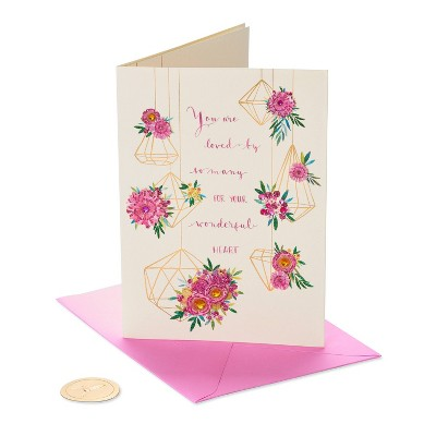 Mothers Day Greeting Card Hanging Geo Flowers - PAPYRUS