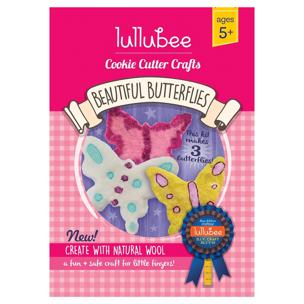 Lullubee Cookie Cutter Wool Craft Set - Butterfly, Multi-Colored