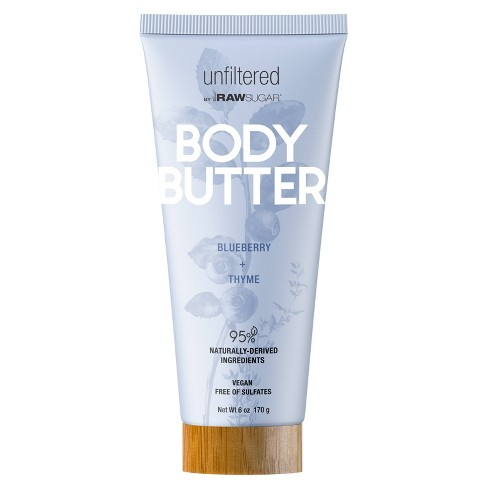 Unfiltered By Raw Sugar Blueberry and Thyme Body Butter - 6oz - image 1 of 4